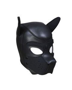 Neopreen Puppy Dog Masker - Zwart voor