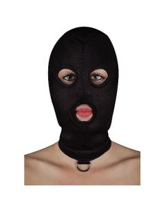 BDSM masker van netstof met D-ring