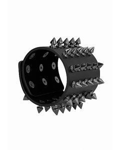 Ouch! Skulls and Bones - Brede Armband met Spikes
