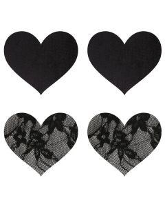 Peekaboos Satijnen en Kanten Hart Tepel Stickers