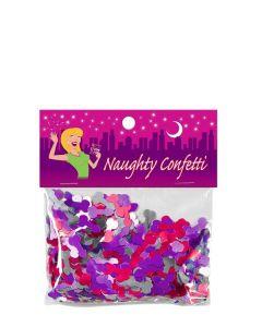 Penisvorm Confetti - Roze/Paars/Zilver kopen