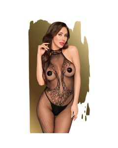 Penthouse First Lady Bodystocking - Zwart voorkant