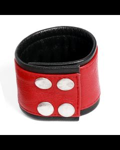 Polsband Rood / Zwart - M dicht