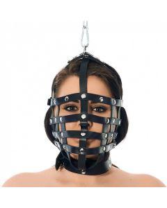 Rimba Riemen masker met ophangring aan bovenzijde