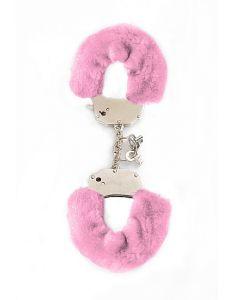 Roze Beginners Handboeien met Pluche los