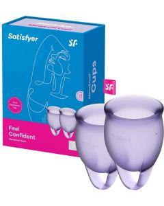 Satisfyer - Feel Confident Menstruatie Cup Set Lila