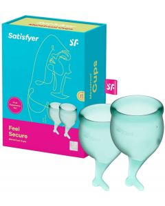 Satisfyer - Feel Secure Menstruatie Cup Set Donkergroen