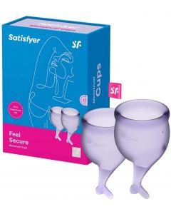 Satisfyer - Feel Secure Menstruatie Cup Set Lila