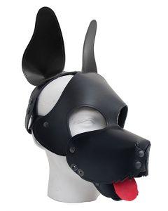 Leren Shaggy Dog Masker Mister B - Zwart tong