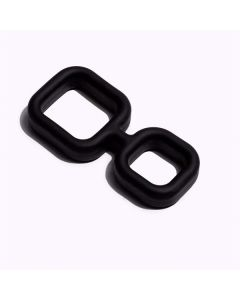Siliconen Cockring Muscle 2 Way - Zwart