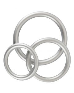 Siliconen Cockringen Set - Metalic
