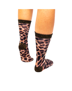 Sock My Leopard - Dames Sokken achter