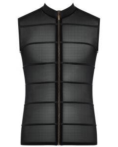 Transparant Heren Shirt met Zwarte Strepen - NEK los