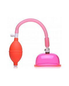 Vagina Pomp met Large Cup - Roze zijkant