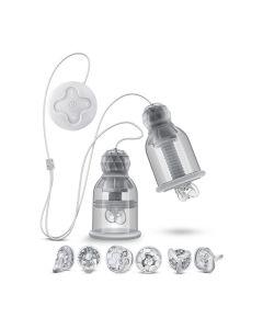 Vibrerende Tepelzuigers Titilator - Transparant