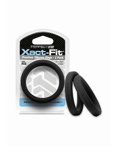 Xact-Fit Cockring 2-Pack Maat 14 - Zwart