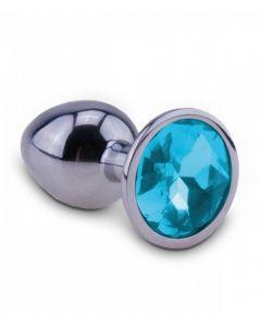 Zilveren Starter Buttplug met Siersteen blauw kopen