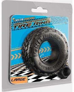 Zwarte Cockring Tire Ring - Large