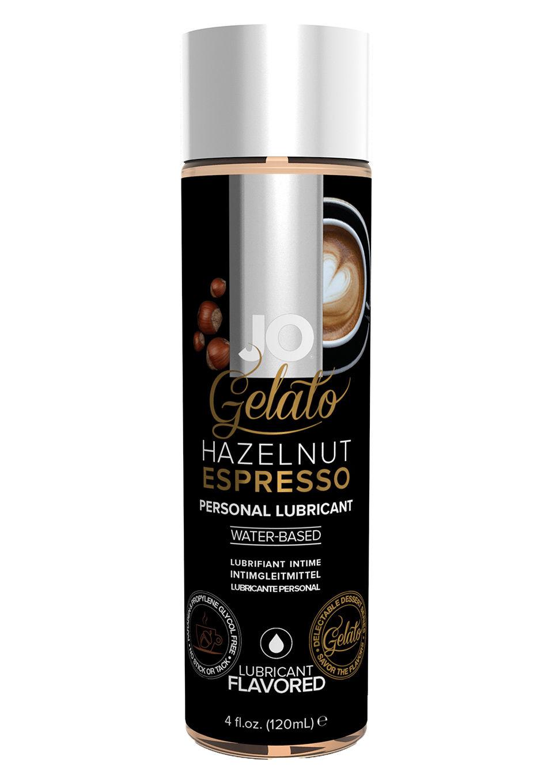 Image of JO Gelato Eetbaar Glijmiddel Hazelnoot Espresso - 120 ml