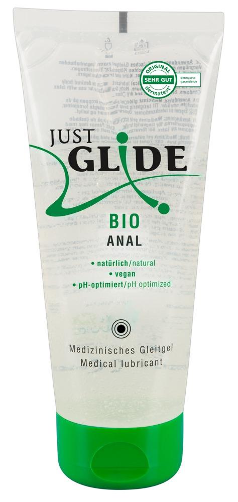 Image of Just Glide Bio Waterbasis Anaal Glijmiddel - 200ml