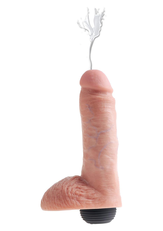 Image of Huidkleurige spuitende dildo 20 cm