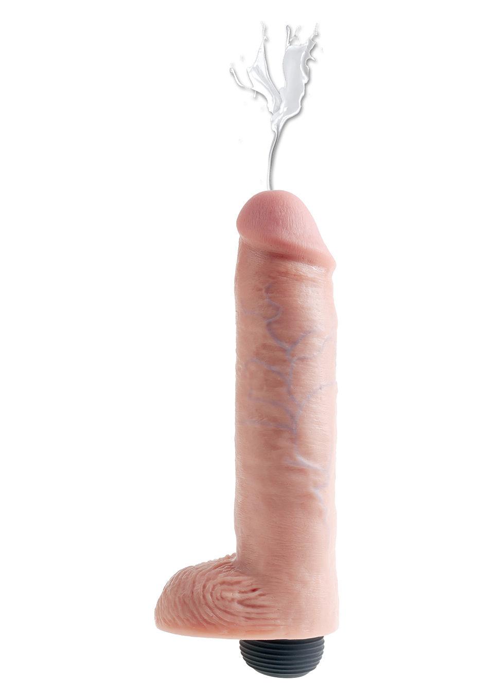 Image of Huidkleurige spuitende dildo 25 cm