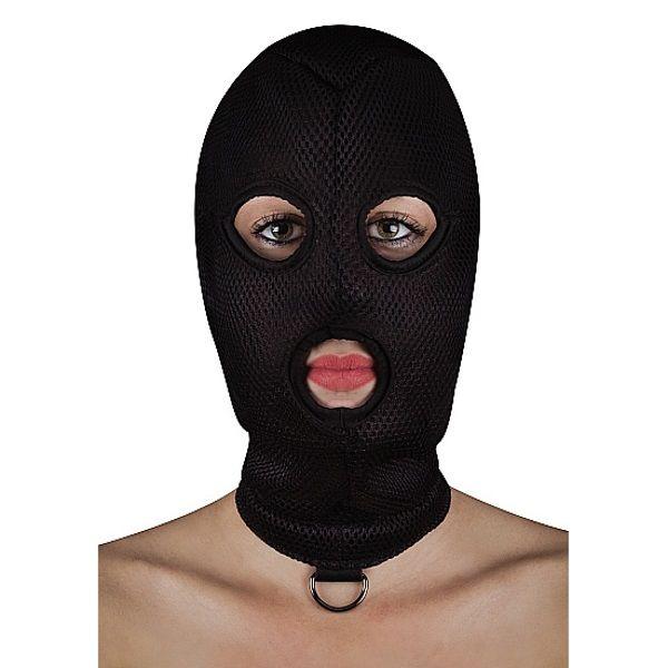 Image of BDSM masker van netstof met D-ring