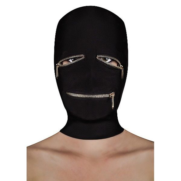 Image of BDSM masker met ritsjes over de ogen en mond